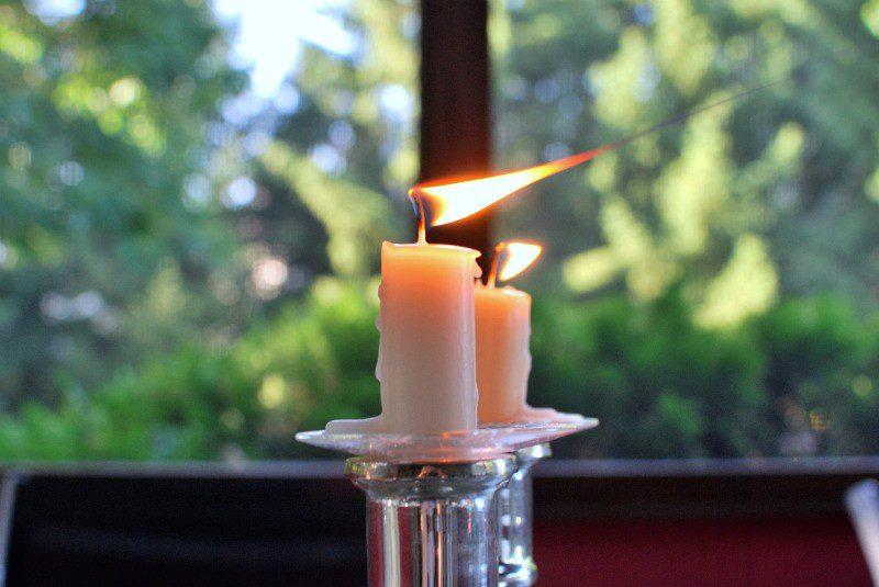 Зажигание свечей перед Рош а-Шана