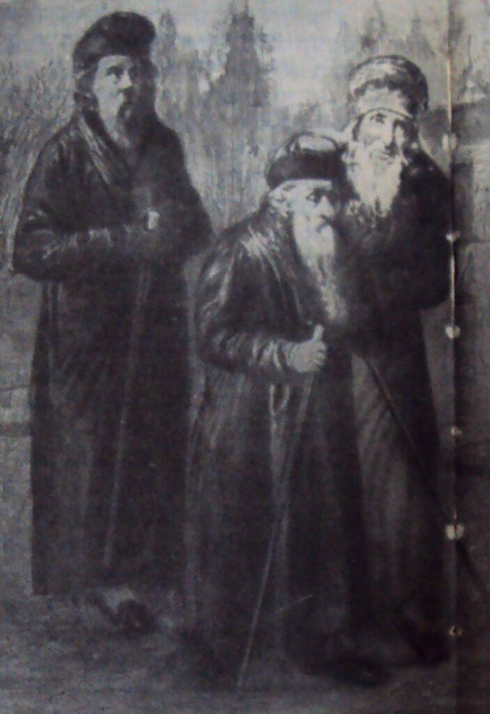р. Акива Эйгер в сопровождении судей Позании