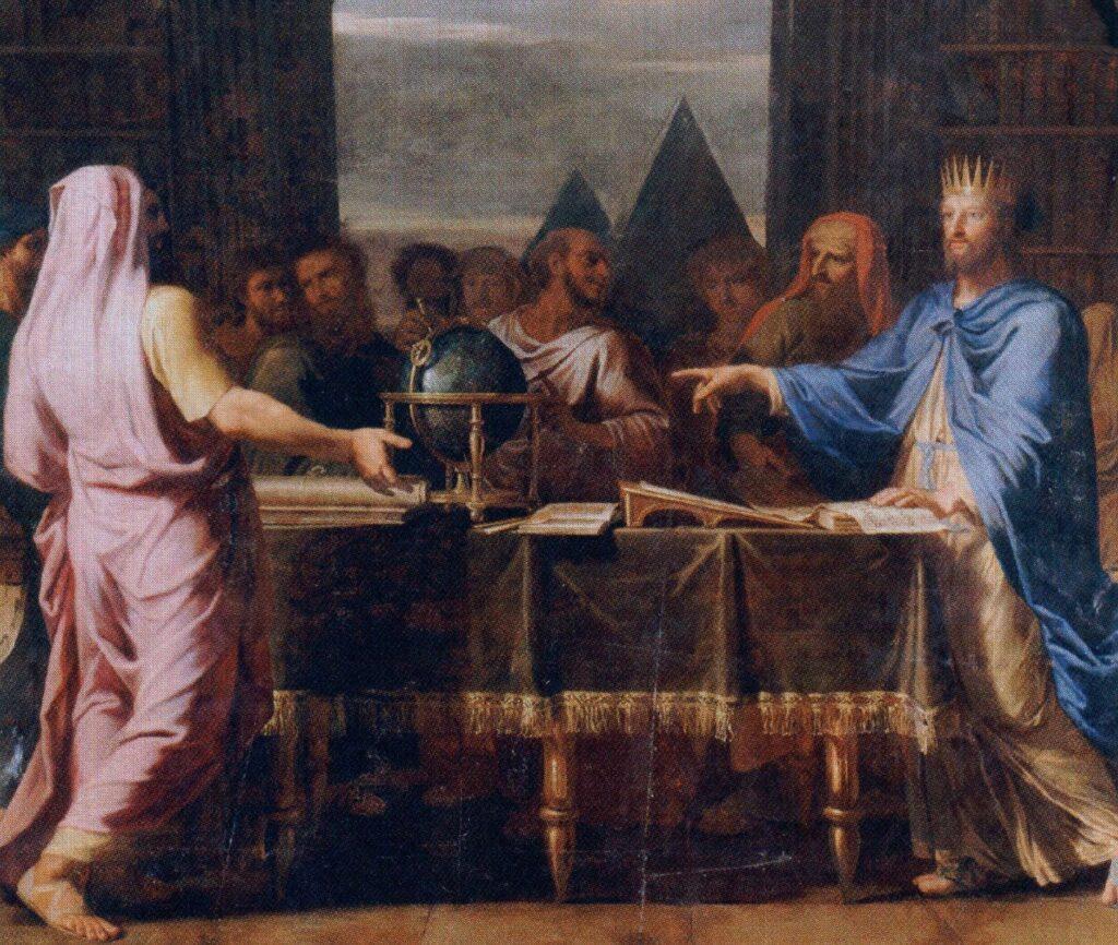 Царь Талмай с еврейскими мудрецами. Рисунок ean-Baptiste de Champaigne