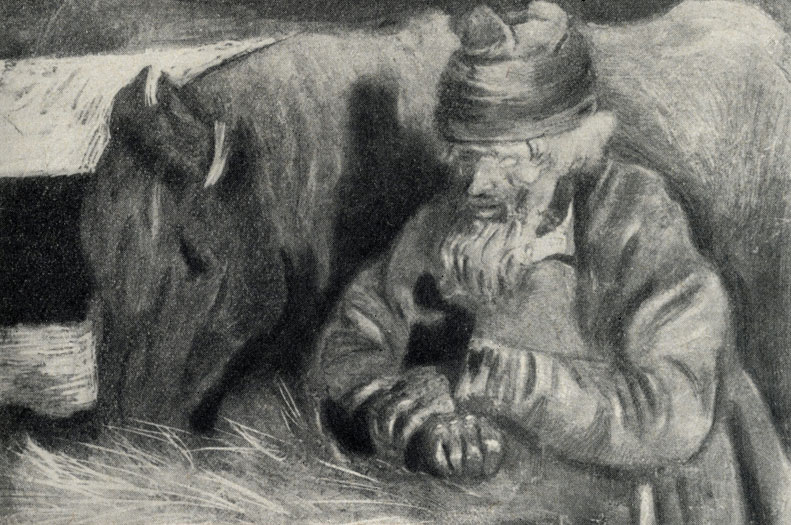кучер с лошадью