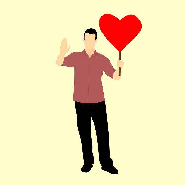 знак стоп в виде сердца